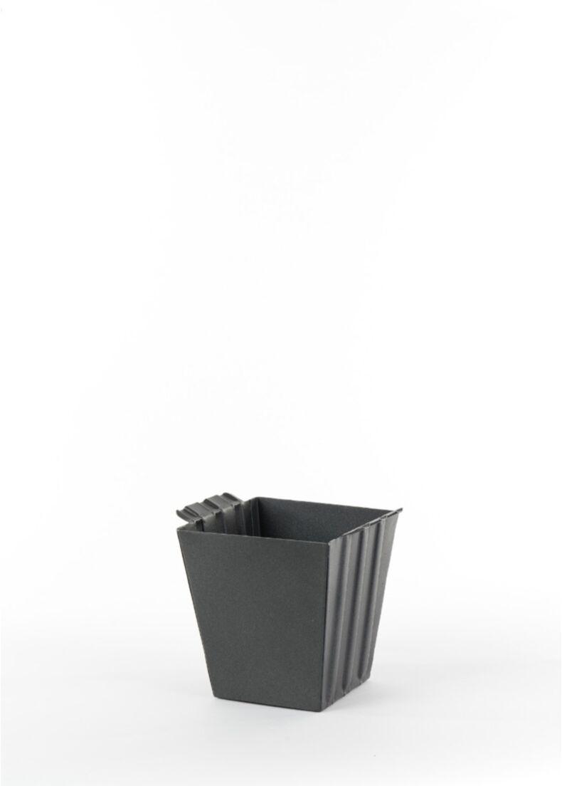 contenitore POP CORNER in acciaio verniciato nero