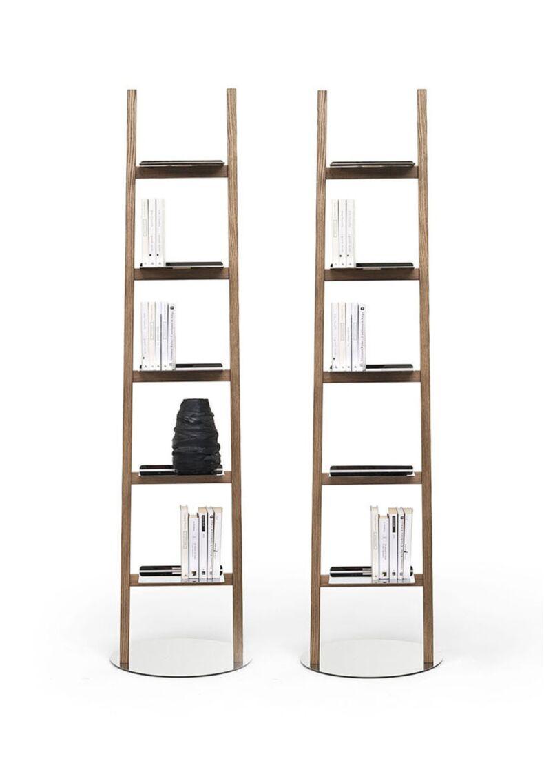 ALLA SCALA lampada appendiabiti in legno massello di frassino con led cm. 41x5/15x190h