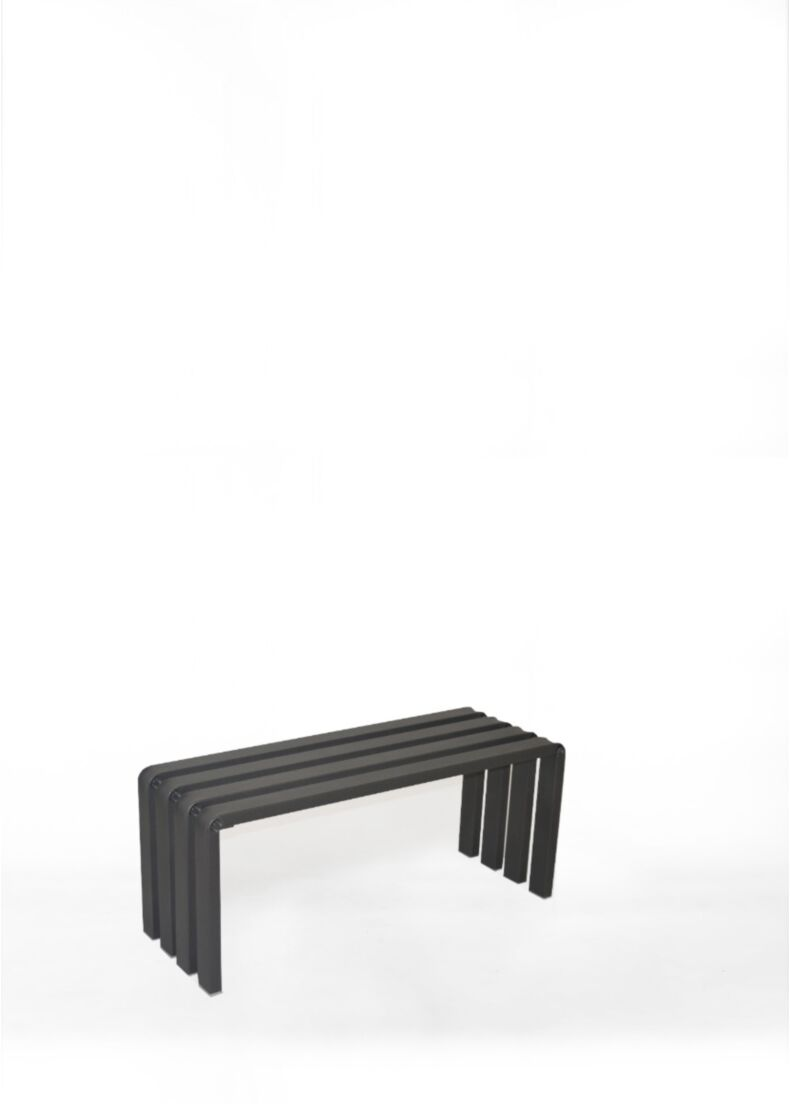 Panca RUNWAY A in acciaio verniciato nero 100 cm