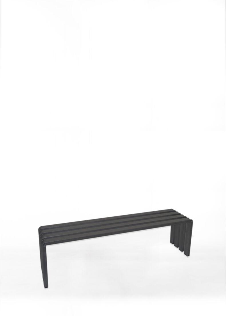 Panca RUNWAY A in acciaio verniciato nero 150 cm