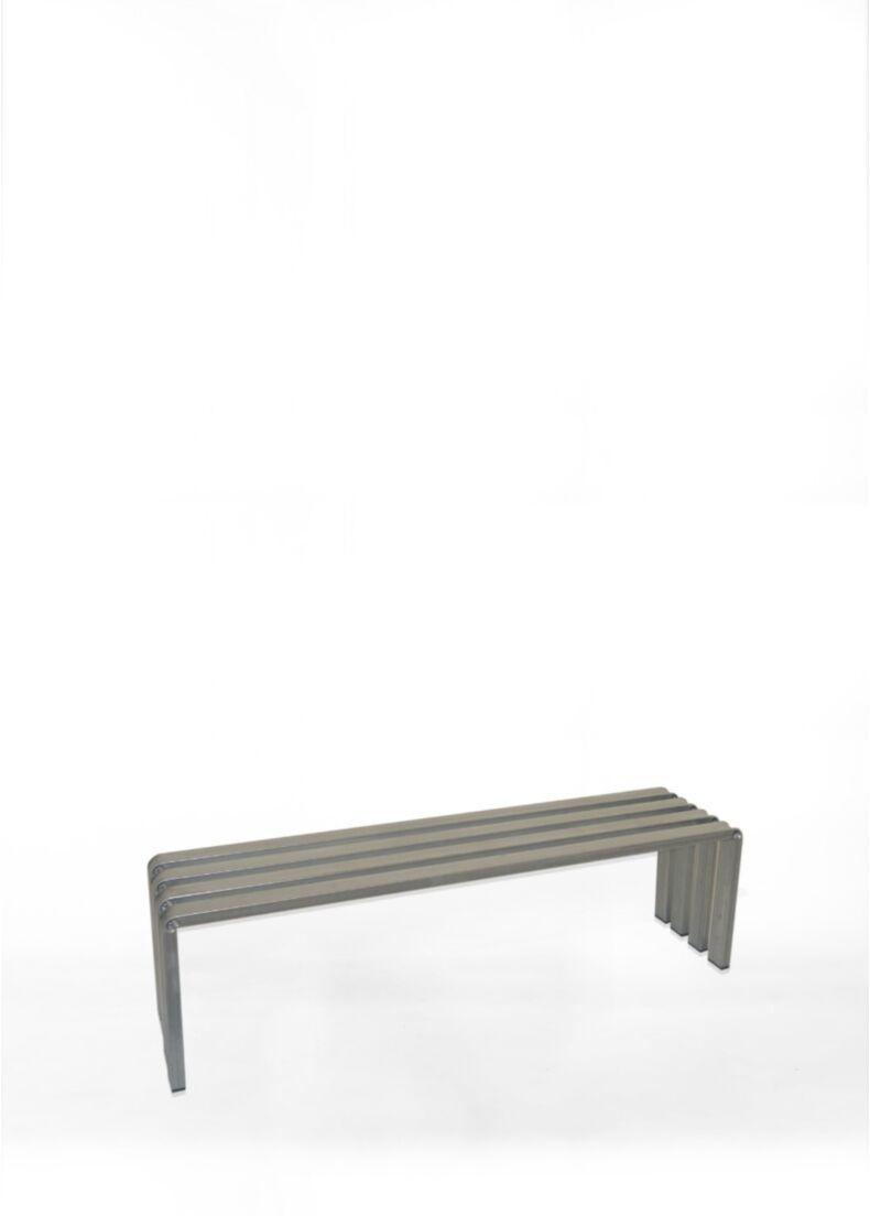 design bench in metal and unique design situér milano