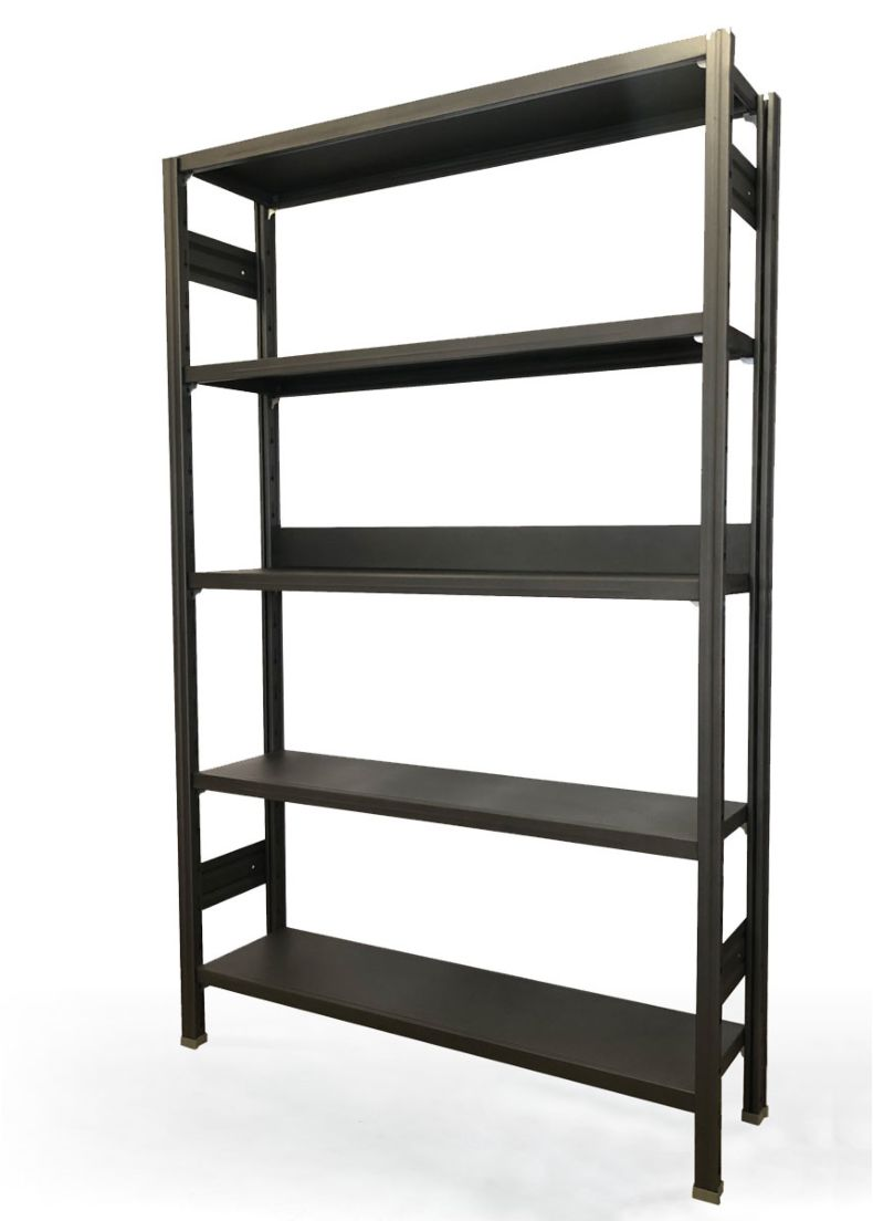 design shelving in steel in black finishing by situér milano