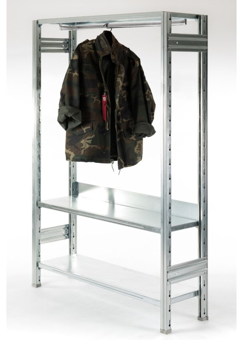 galvanized metal shelving for clothes situer milano