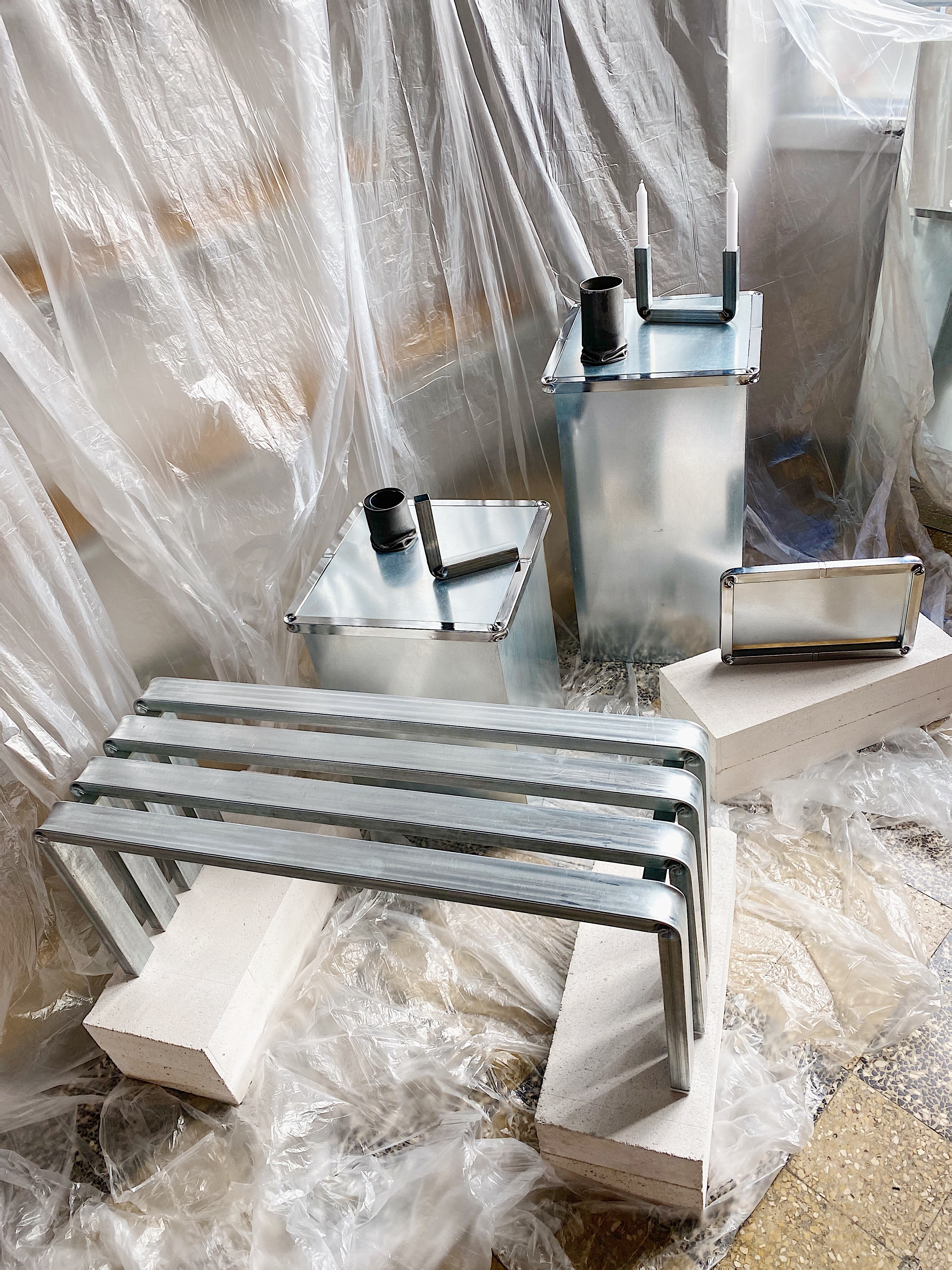 allestimento set industrial design